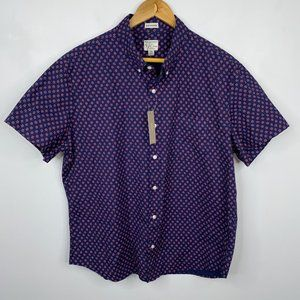 J.Crew Short Sleeve Collared Button-Up Shirt XL